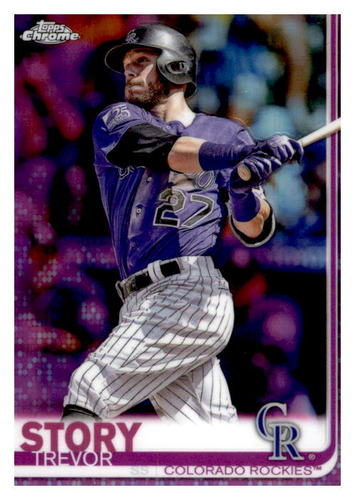 Photo of 2019 Topps Chrome Pink Refractors #183 Trevor Story