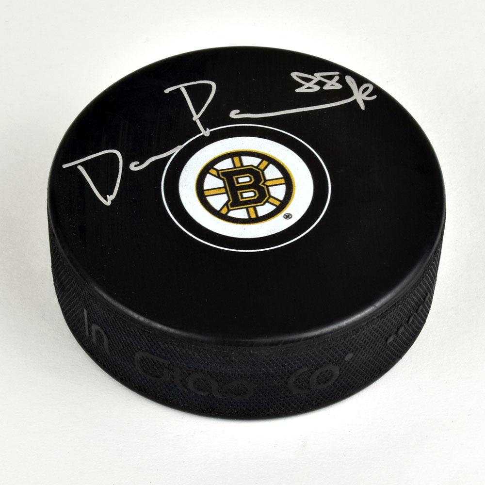 David Pastrnak Boston Bruins Signed Autograph Model Hockey Puck