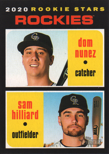 Photo of 2020 Topps Heritage #123 Sam Hilliard RC/Dom Nunez RC