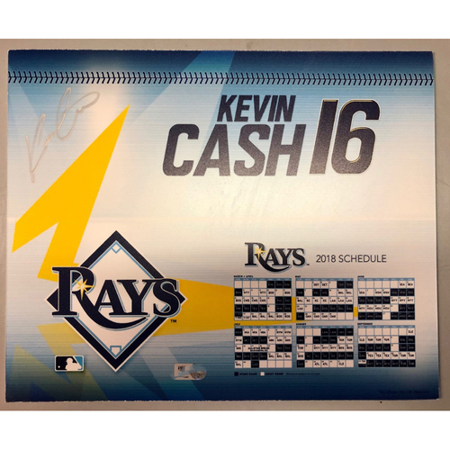 Photo of Game Used Autographed Locker Tag: Kevin Cash - March 29, 2018 v BOS