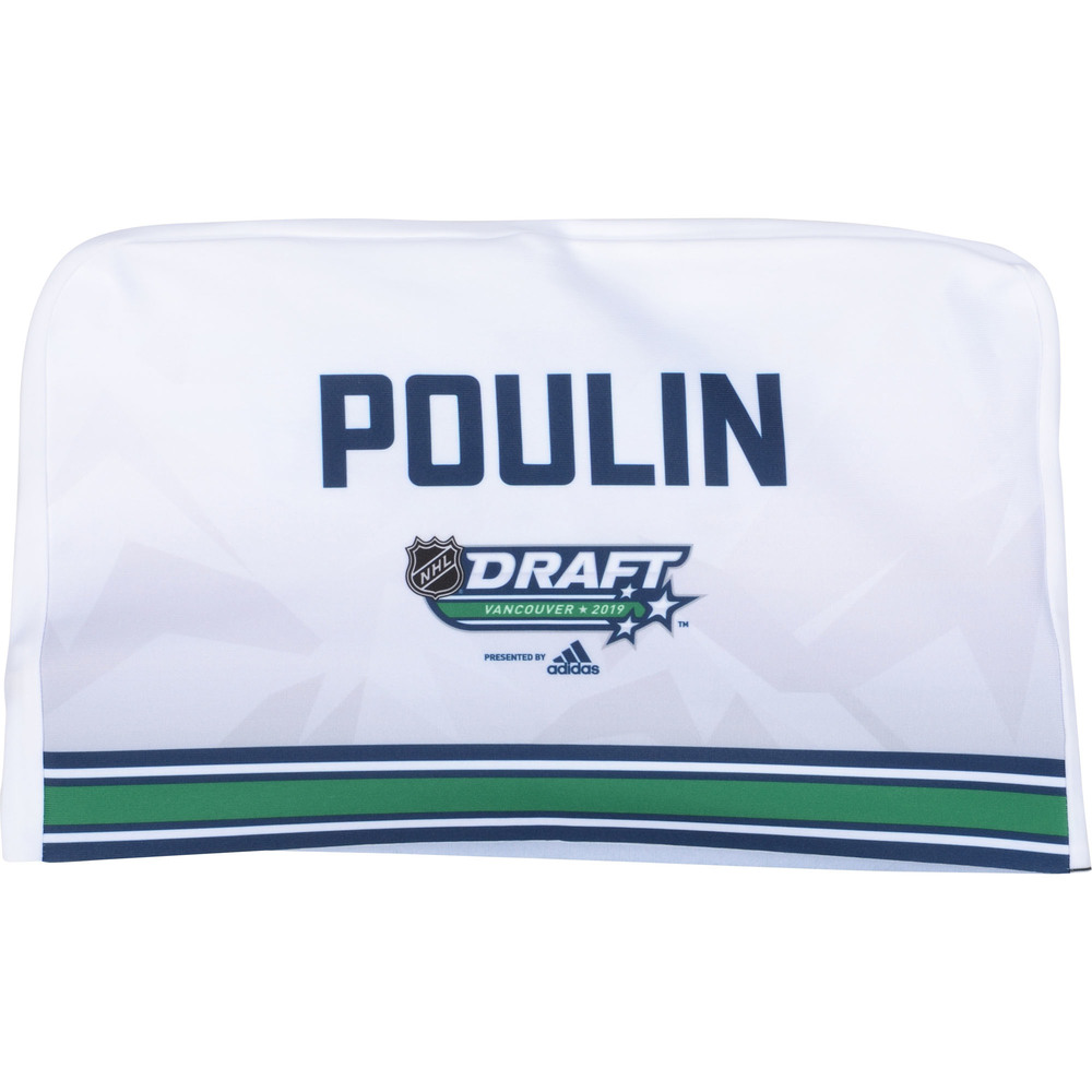 Samuel Poulin Pittsburgh Penguins 2019 NHL Draft Seat Cover - Second set (Not Used)