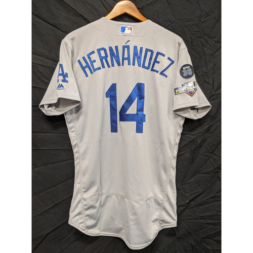 "Photo of Enrique ""Kiké"" Hernandez Game-Used 2019 Road Postseason Jersey"