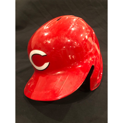Photo of Nick Senzel -- 2020 Game-Used Helmet -- Worn for Reds Opening Day and Playoff Clinch -- Helmet Scheduled to Arrive Prior to Dec 24