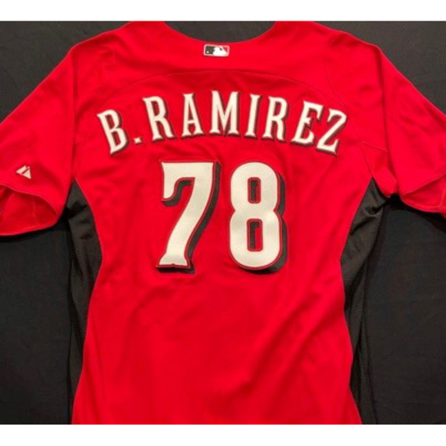 Photo of B. RAMIREZ -- Authentic Reds Jersey -- $1 Jersey Auction -- $5 Shipping -- Size 46 (Not MLB Authenticated)