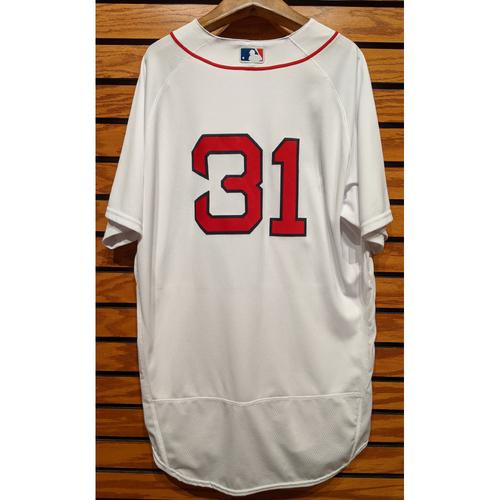 Photo of Brennan Boesch #31 Team Issued Home White Jersey