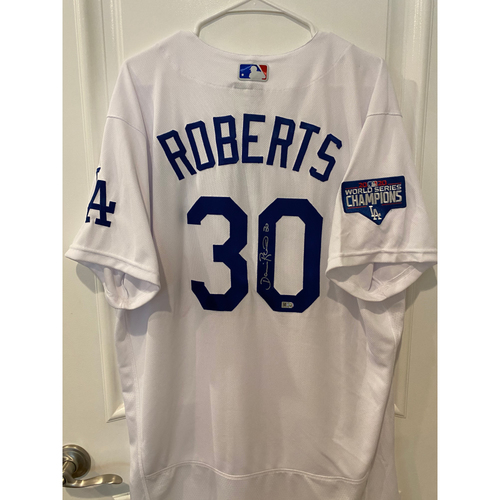 Photo of Dave Roberts Authentic Autographed Los Angeles Dodgers Jersey