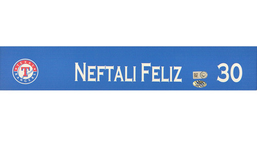 Neftali Feliz Game-Used Locker Nameplate