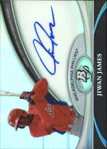 Photo of 2011 Bowman Platinum Prospect Autograph Refractors #JJ Jiwan James