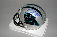 PANTHERS - CURTIS SAMUEL SIGNED PANTHERS MINI HELMET