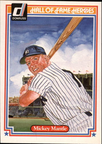 Photo of 1983 Donruss HOF Heroes #7 Mickey Mantle -- Hall of Fame Class of 1974