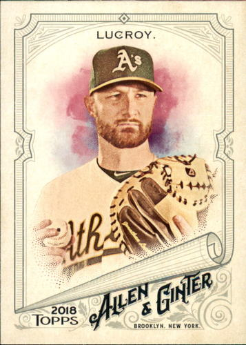 Photo of 2018 Topps Allen and Ginter #38 Jonathan Lucroy