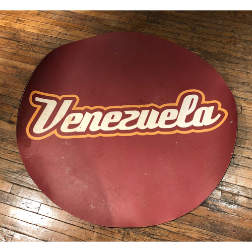 Photo of Game-Used On-Deck Circle: 2013 WBC Round 1 Spain vs Venezuela (Venezuela Side)