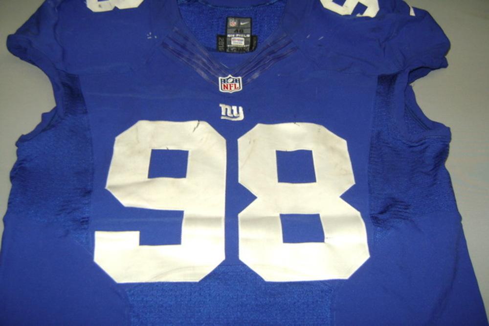 NFL Auction | STS - GIANTS DAMON HARRISON GAME WORN GIANTS JERSEY ...
