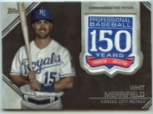 Photo of 2019 Topps Update 150th Anniversary Manufactured Patches #AMPWME Whit Merrifield