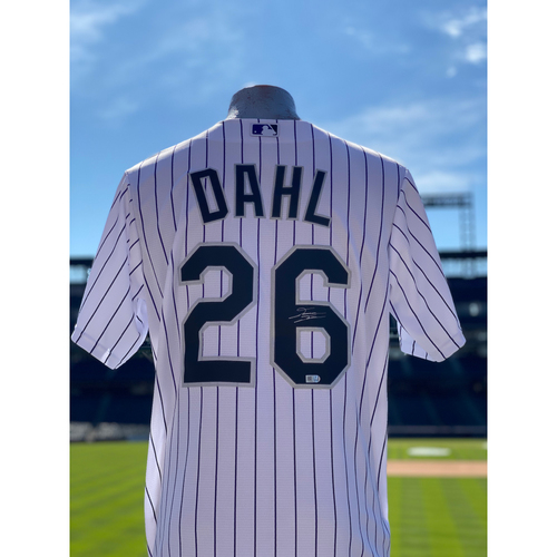 Photo of Colorado Rockies Autographed Home Jersey: David Dahl - Choose your Size!