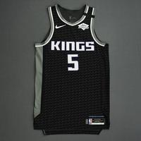 De'Aaron Fox - Sacramento Kings - Game-Worn Statement Edition Jersey - Scored Game and Career-High 39 Points - 2019-20 NBA Season Restart with Social Justice Message