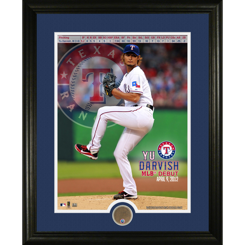 Serial #1! MLB Auctions Exclusive - Yu Darvish MLB Debut Game Used Dirt Commemorative Frame