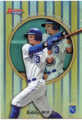 Photo of 2019 Bowman's Best '99 Franchise Favorites Refractors #99FFBWJ Bobby Witt Jr.