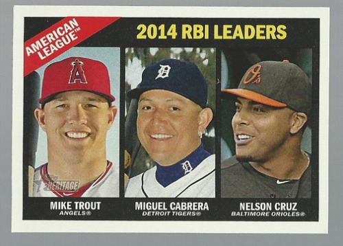 Photo of 2015 Topps Heritage #220 Nelson Cruz/Miguel Cabrera/Mike Trout