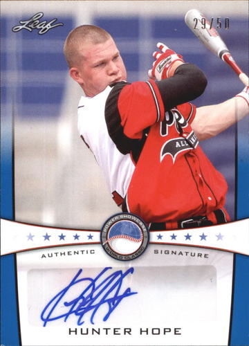 Photo of 2013 Leaf Power Showcase Autographs Blue #HH1 Hunter Hope
