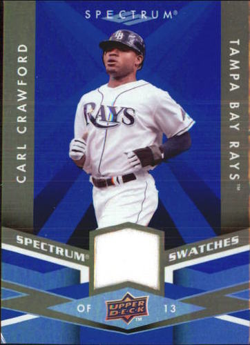 Photo of 2009 Upper Deck Spectrum Spectrum Swatches Blue #SSCC Carl Crawford
