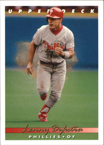 Photo of 1993 Upper Deck Gold Hologram #69 Len Dykstra