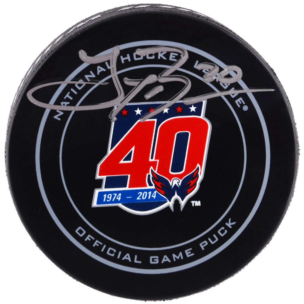 Troy Brouwer Washington Capitals Autographed 40th Anniversary Official Game Puck
