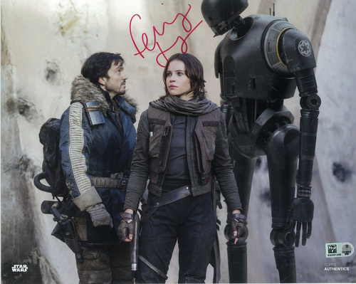 Felicity Jones as Jyn Erso 8x10 Autographed in Red Ink Photo
