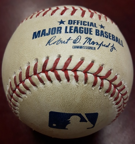 Photo of Authenticated Game Used Baseball - April 3, 2018 vs Chicago White Sox: Strikeout by Tyler Clippard against Tim Anderson (Top 8)