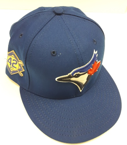 Photo of CHARITY AUCTION: Authenticated Team Issued #42 Cap - Dane Johnson (May 3, 2018). Size 7 3/8