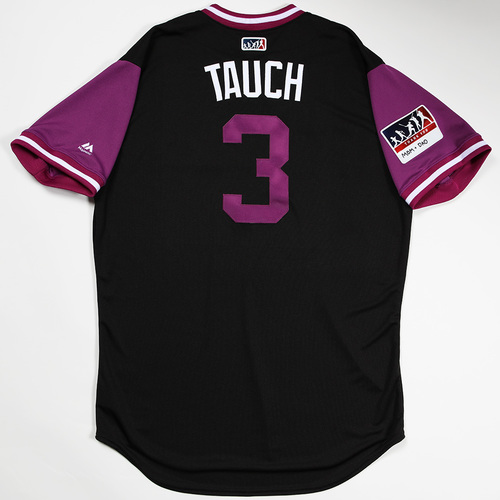 "Photo of Mike ""Tauch"" Tauchman Colorado Rockies Team-Issued 2018 Players' Weekend Jersey"