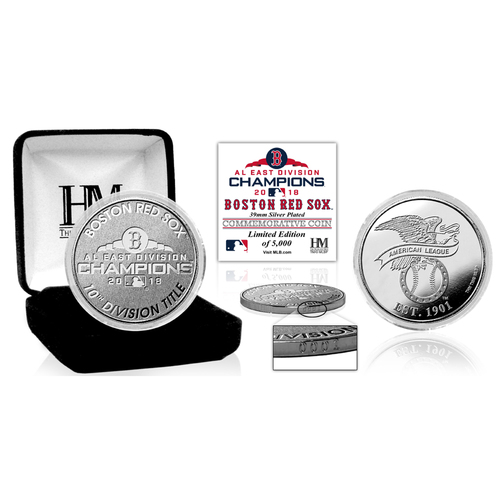 Photo of Boston Red Sox 2018 AL East Division Champions Silver Mint Coin