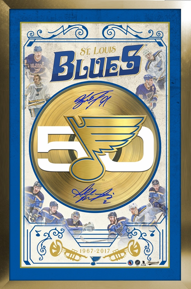 St. Louis Blues 50th Anniversary Collage Signed By Macinnis & Tarasenko