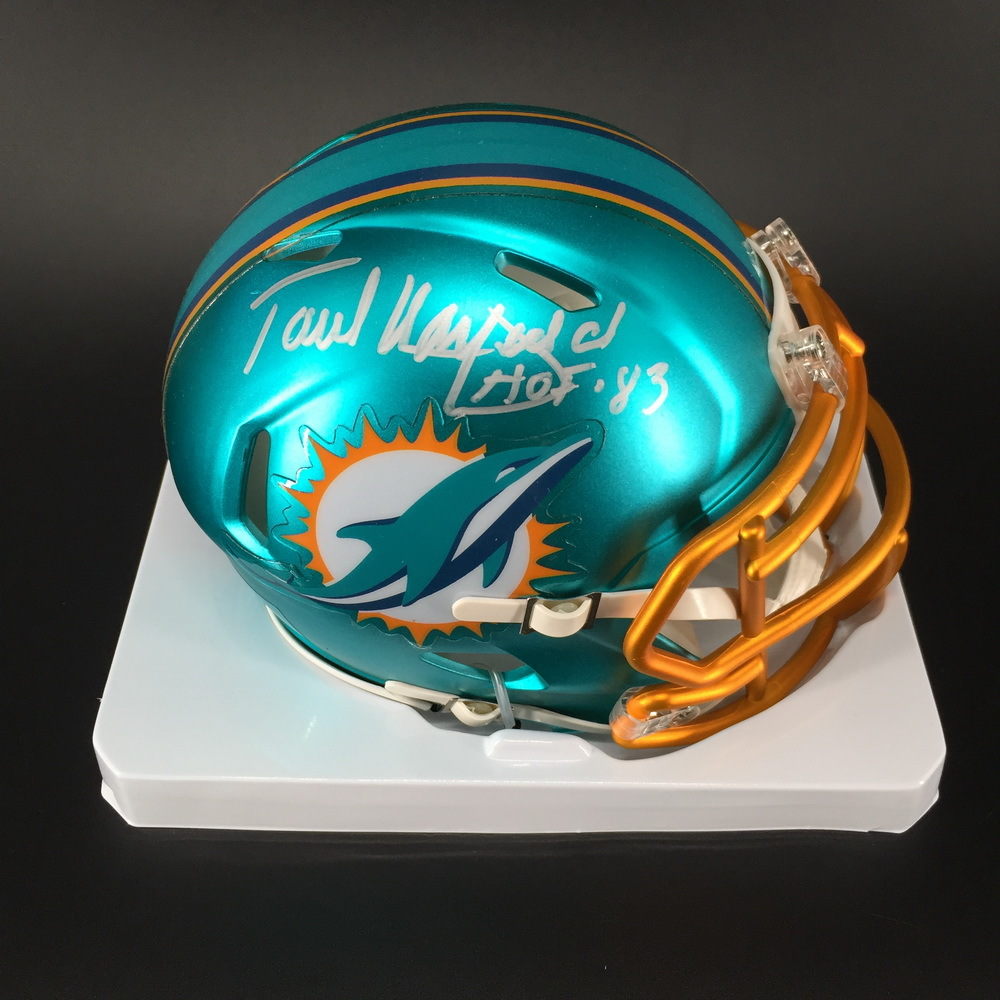HOF - Dolphins Paul Warfield Signed Blaze Speed Mini Helmet