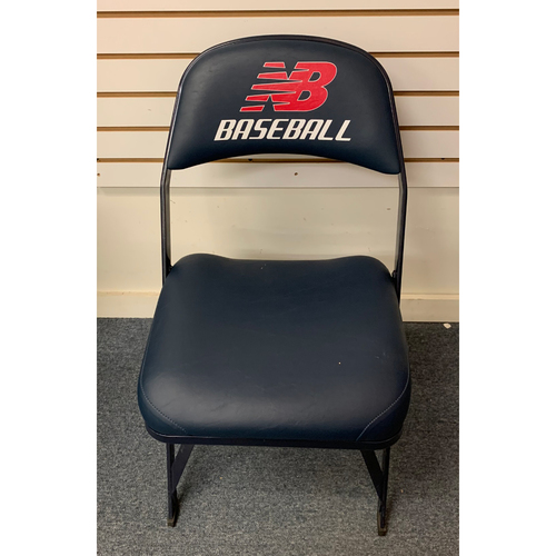 Photo of Derek Jeter August 1, 2014 Game Used Visitor's Locker Room Clubhouse Chair