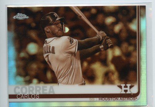 Photo of 2019 Topps Chrome Sepia Refractors #64 Carlos Correa