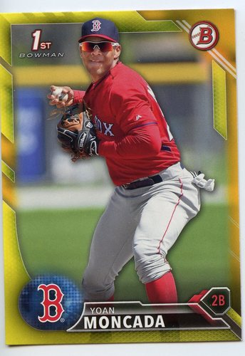 Photo of 2016 Bowman Prospects Yellow #BP148 Yoan Moncada