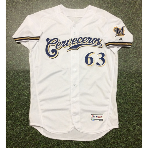 Photo of Robinzon Diaz 2019 Team-Issued Cerveceros Jersey