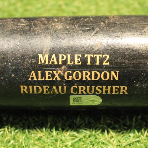 Photo of Team-Issued Bat: AL Gold & Platinum Glove Award Winner Alex Gordon (Authenticated on 10/28/20)