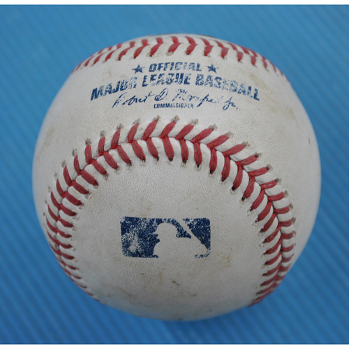 Photo of Game-Used Baseball - 2020 NLDS - San Diego Padres vs. Los Angeles Dodgers - Game 2 - Pitcher: Joe Kelly, Batter: Eric Hosmer (Foul) - Top 9