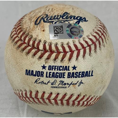Photo of 2021 Game-Used Baseball - Pitcher: Framber Valdez, Batter: Aaron Judge - Strikeout- Top 3- 7/11/21