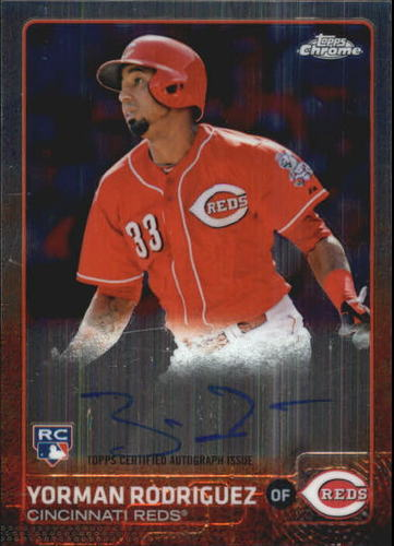 Photo of 2015 Topps Chrome Rookie Autographs #ARYR Yorman Rodriguez
