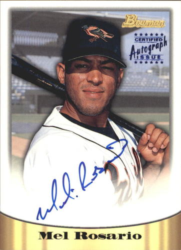 Photo of 1998 Bowman Certified Blue Autographs #7 Mel Rosario