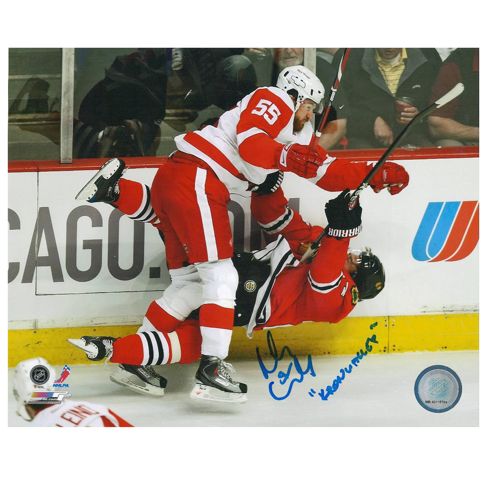NIKLAS KRONWALL Signed Kronwalled Detroit Red Wings 8 X 10 Photo - 70433