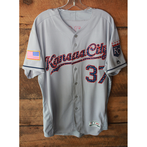 Game-Used Jersey: Brandon Moss (7/4/17 - KC at SEA - Size 46)