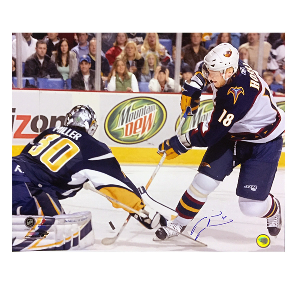 MARIAN HOSSA Signed Atlanta Thrashers 16 X 20 Photo - 79045