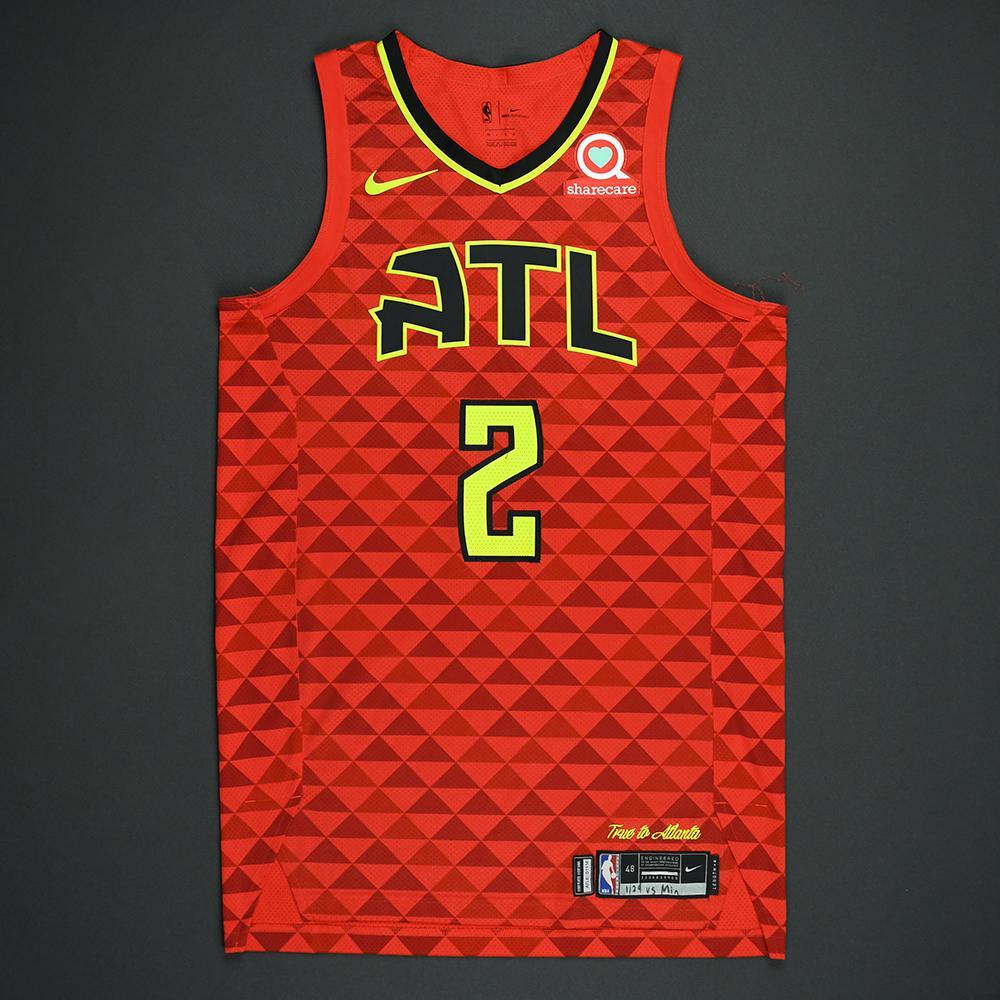 Tyler Dorsey - Atlanta Hawks - Statement Game-Worn Jersey  - 2017-18 Season