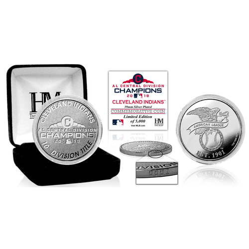 Photo of Cleveland Indians 2018 AL Central Division Champions Silver Mint Coin