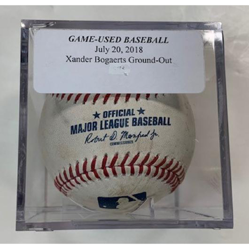 Photo of Game-Used Baseball: Steve Pearce Single and Xander Bogarts Ground Out