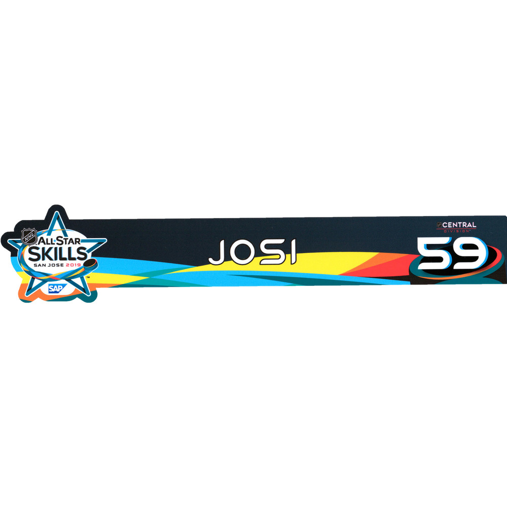 Roman Josi Nashville Predators Event-Used #59 Locker Nameplate from All-Star Skills Competition